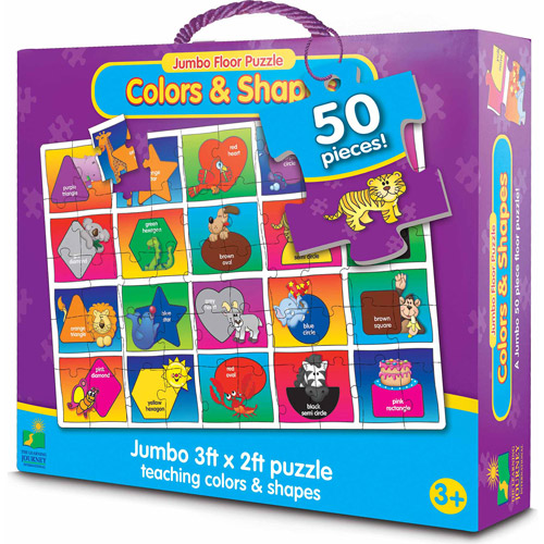 The Learning Journey Jumbo Floor Puzzle, Colors and Shapes by The Learning Journey