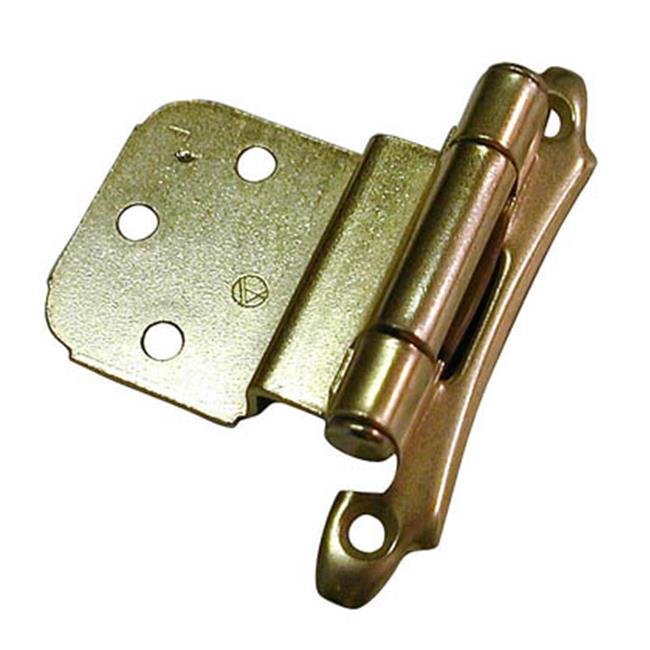 A07928 3 Amerock Decorative 0.38 in. Inset Self Closing Cabinet Door Hinge, Polished Brass
