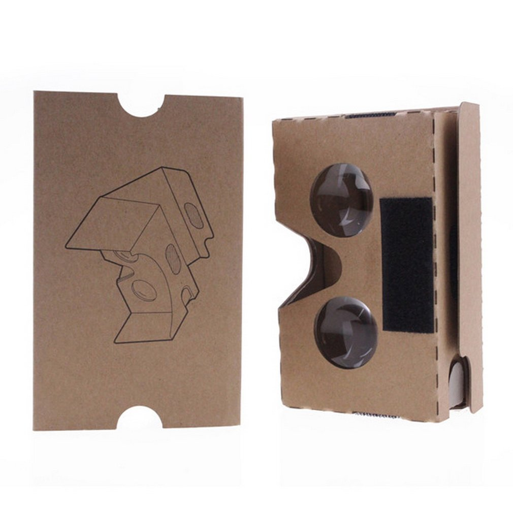New Brown Cardboard 3D Vr Virtual Reality Glasses High Quality Toy Fun DIY