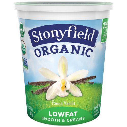 Stonyfield Organic Lowfat Smooth & Creamy French Vanilla Yogurt, 32 oz