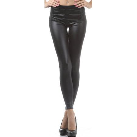 27d57f257e67c6 Sakkas - Sakkas Footless Ultra Slim Fit Matte Liquid Wet Look Leggings -  Black - Medium - Walmart.com