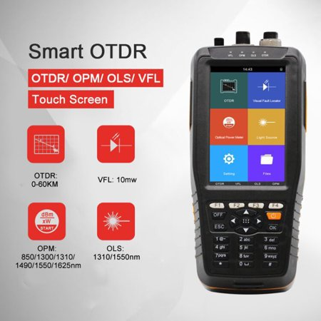 Intelligent Handy OTDR 1310 1550nm with VFL/OPM/OLS Touched Screen Tester OTDR Optical Time Domain Reflectometer TM290 - image 3 of 3