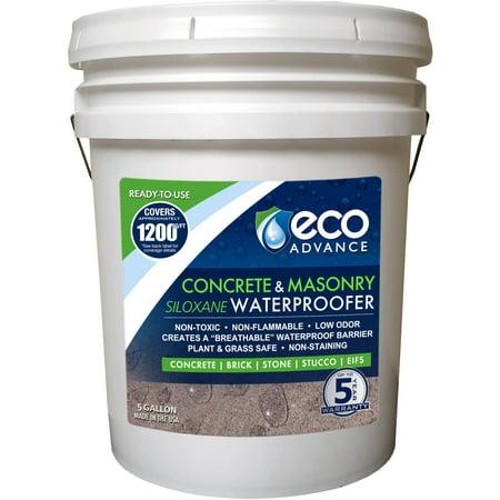 Eco Advance Concrete/Masonry Siloxane Waterproofer, Ready-to-Use, 5 Gallon