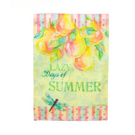 Garden Size Sublimation Printed Flag   Evernote Lazy Days Of Summer  12 5X1x18 Inches