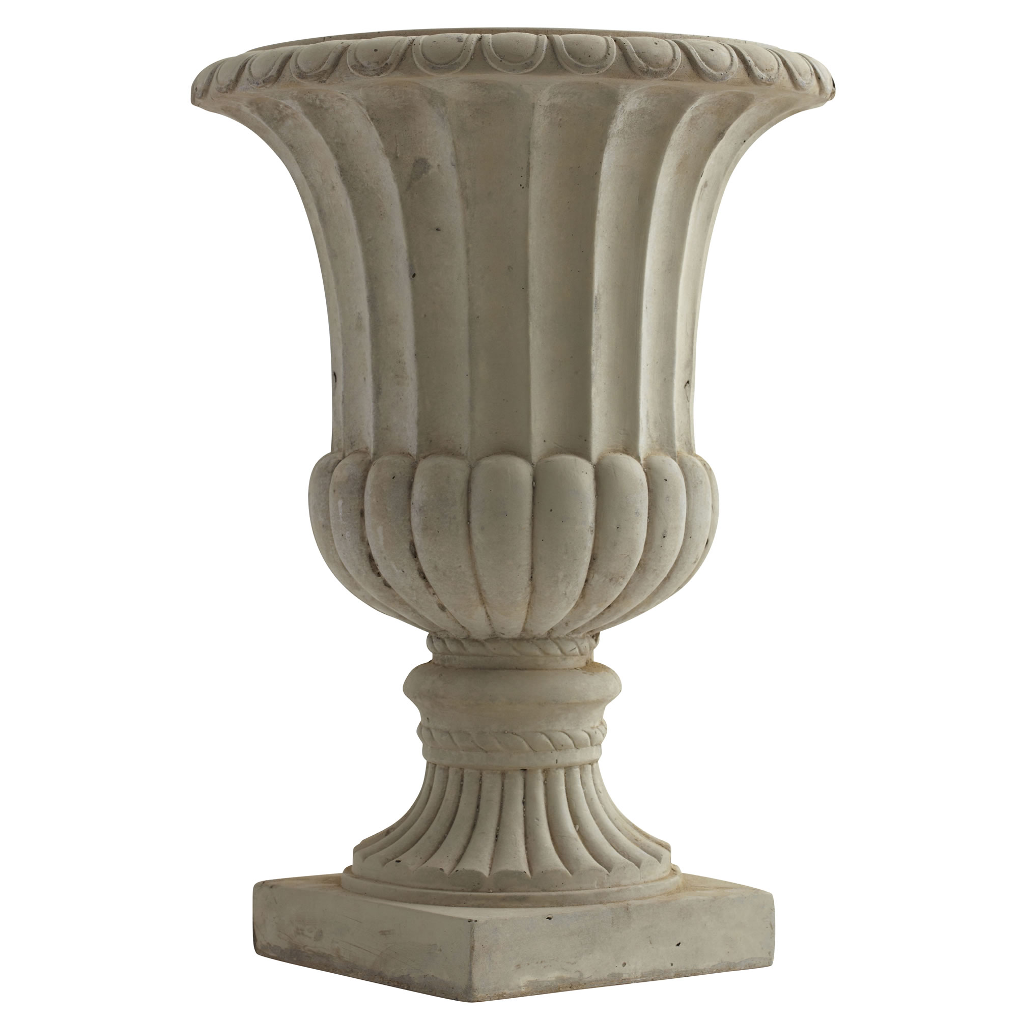 """Nearly Natural 20.25"""" Large Sand Colored Urn (Indoor/Outdoor)"""