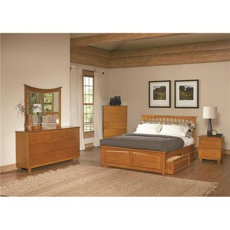 Atlantic Furniture Brooklyn Storage Slat Panel Bed