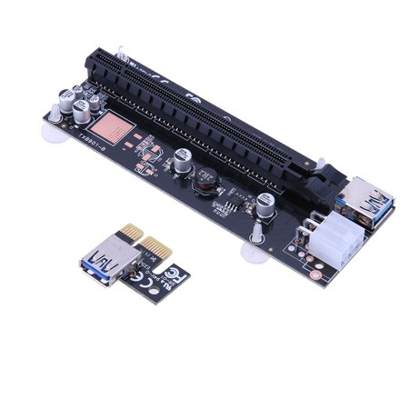 Usb 3 0 Pci E Express 1X To 16X Extender Riser Card Adapter Power Cable