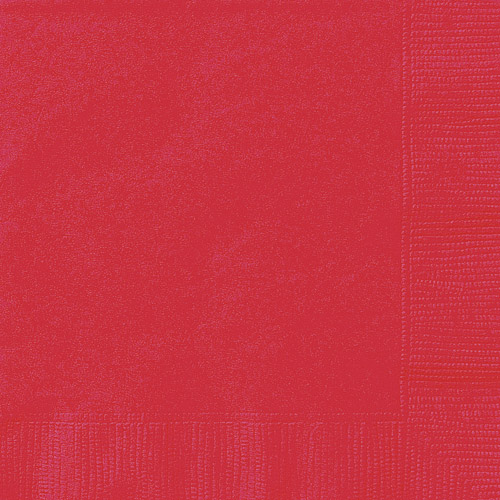 Solid Red Luncheon Napkins, 24 Count