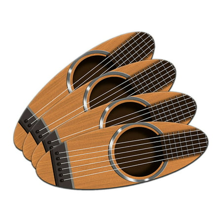 Acoustic Guitar Strings Double-Sided Oval Nail File Emery Board Set 4 Pack