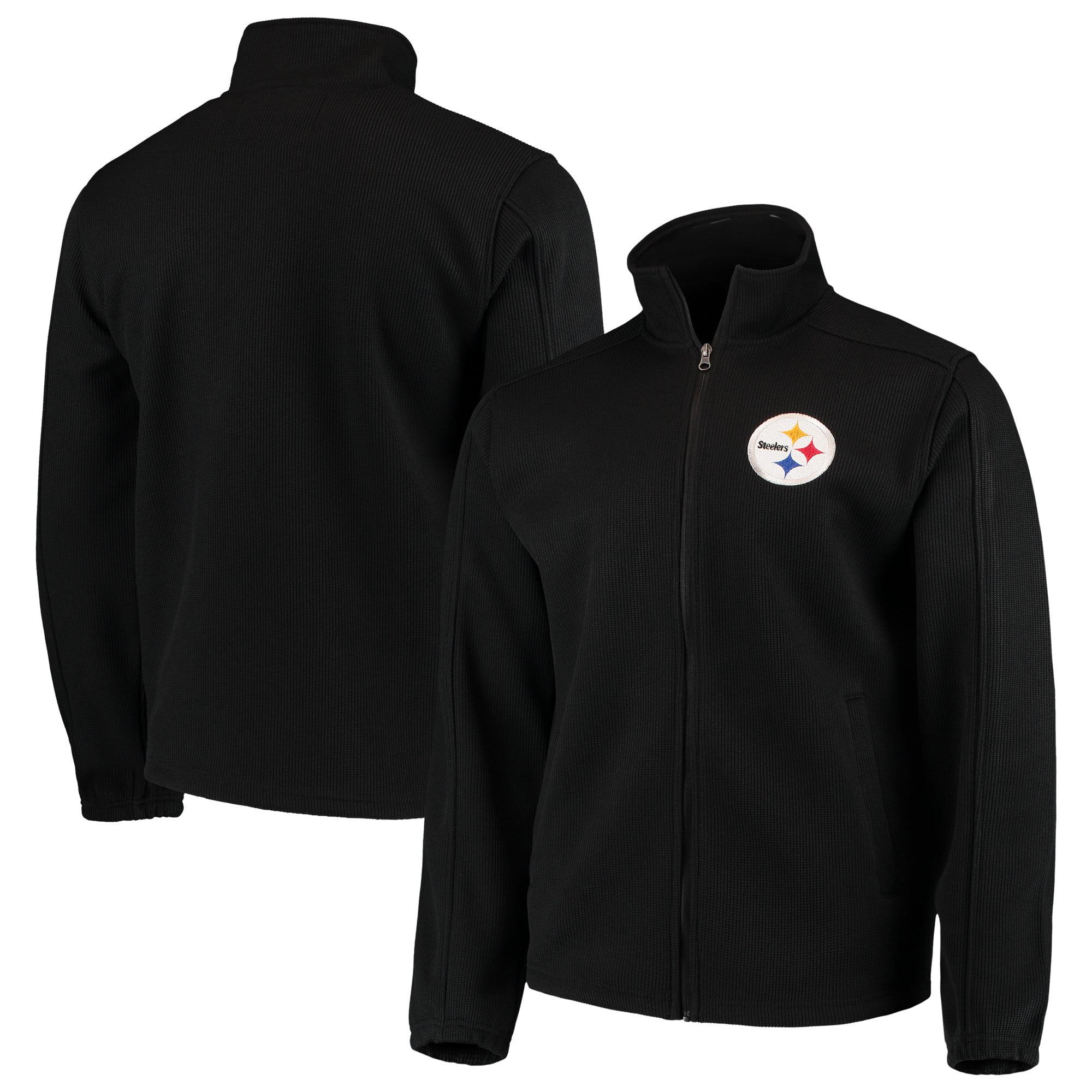 Pittsburgh Steelers G-III Sports by Carl Banks QR Audible Full-Zip Fleece Jacket - Black