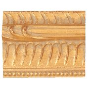 "Picture Frame Moulding (Wood) - Ornate Gold Finish - 1.75"" width - 1/2"" rabbet depth"