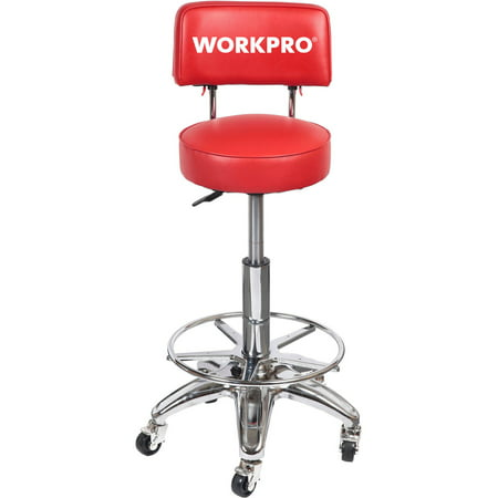 Work Pro Shop Adjustable Swivel Stool Walmart Com