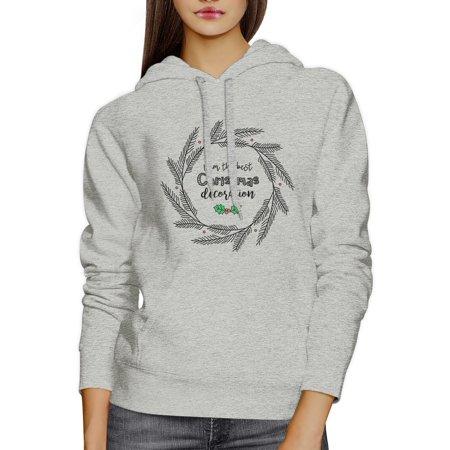 365 Printing Best Christmas Decoration Hoodie Unisex Grey Funny X-Mas Gift