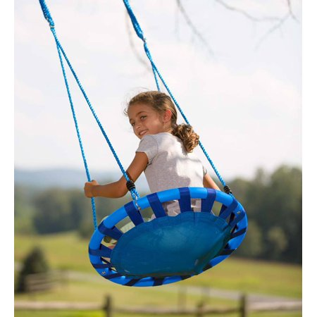 ColorBurst Round Outdoor Platform Tree Swing with Two Ropes, 24