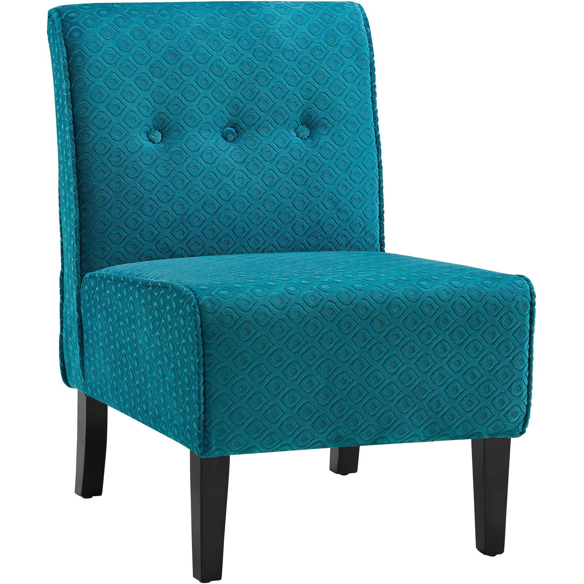 Linon Coco Accent Chair, Teal Blue, 18 inch Seat Height