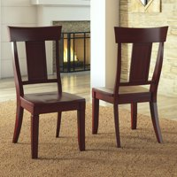 Weston Home Farmhouse Dining Chair with Panel Back (Set of 2)