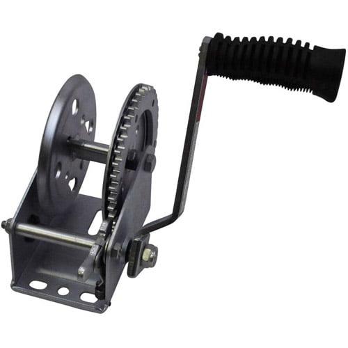 SeaSense 1200 lbs Zinc-Plated Trailer Winch, 20' Strap
