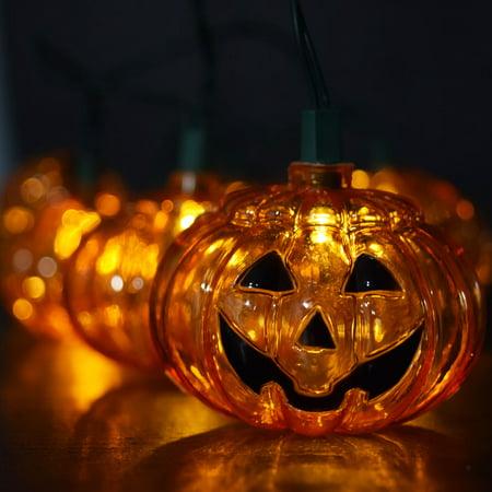 Fantado 10 LED Jack-o-Lantern Pumpkin Halloween String Light, 5.5 FT Battery Operated  by PaperLanternStore - Pumpkin Lights