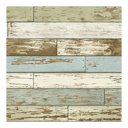 NuWallpaper Old Salem Vintage Wood Peel & Stick Wallpaper