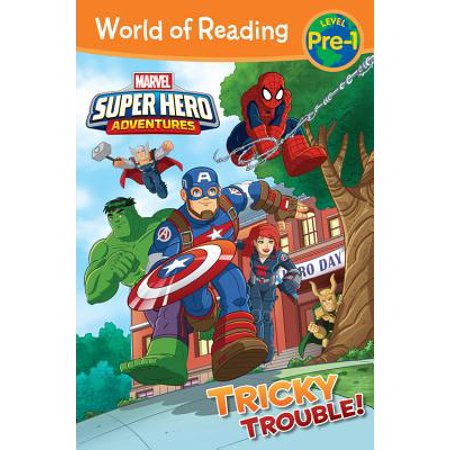 World of Reading Super Hero Adventures: Tricky Trouble! : Level Pre-1 - Level K Reading
