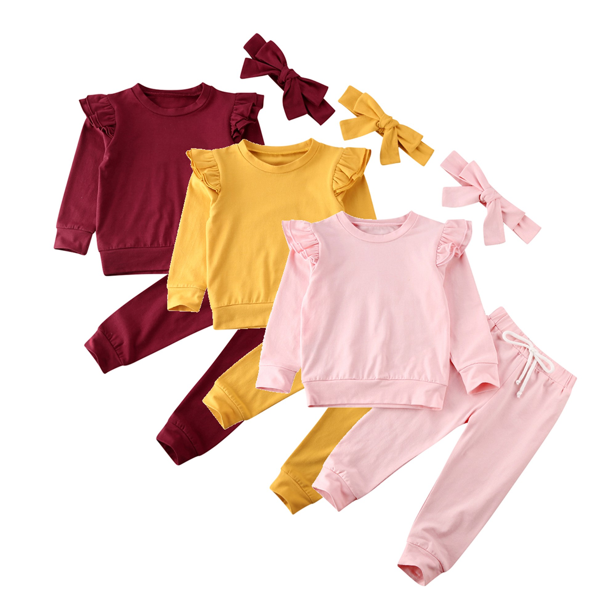 Toddler Baby Girl Clothes Sweatshirt Top Pants Infant Outfits Sets Tracksuit