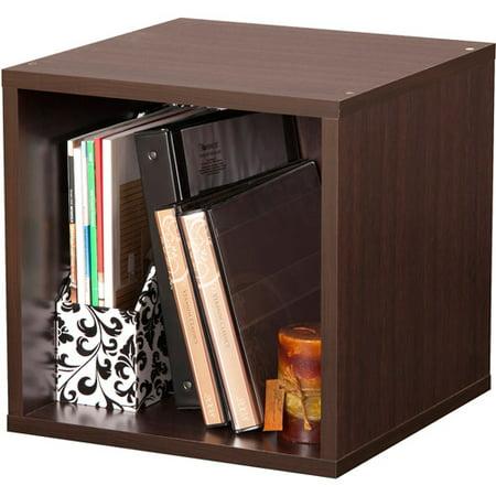 foremost groups open storage cube espresso. Black Bedroom Furniture Sets. Home Design Ideas