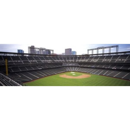 Coors Field Denver Co Canvas Art   Panoramic Images  36 X 12