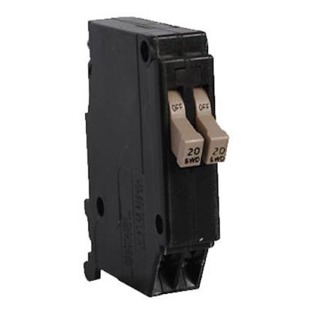 Eaton CH Twin 20A Single Pole Replacement Circuit Breaker 3/8