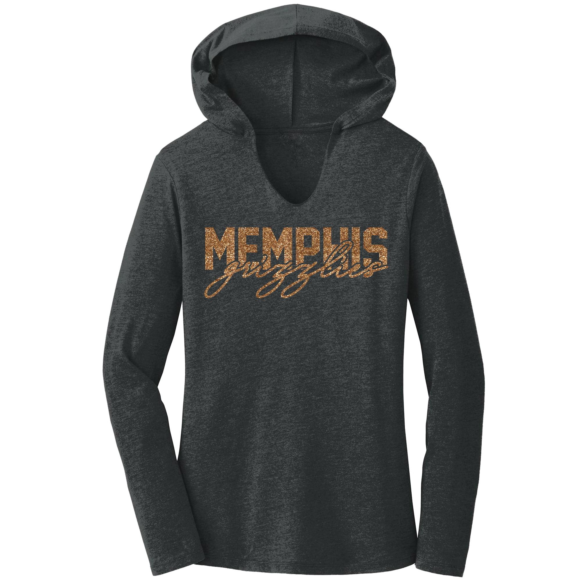 Memphis Grizzlies Women's Bling Hoodie - Charcoal