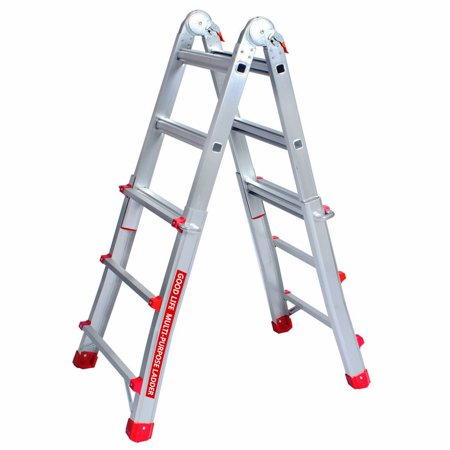 EN131 3X4 Adjustable 9.5 FT Telescoping Multi Ladder Aluminum Extension Ladders