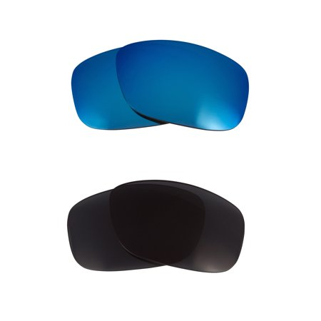 Oakley Square Wire (Square Wire (2006) Replacement Lenses Polarized Grey & Blue by SEEK fits)