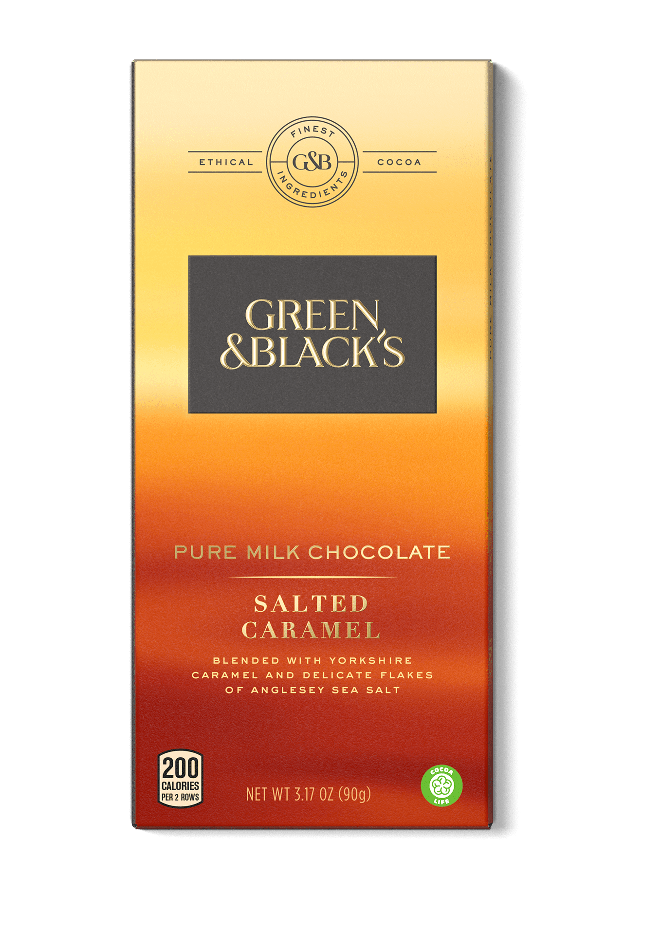 Green and Black's Pure Milk Chocolate Bar, Milk Chocolate with Salted Caramel, 3.17 Oz by Mondelez