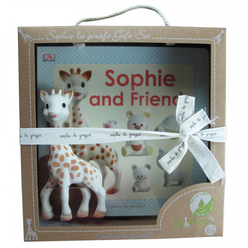 Vulli Set Sophie la girafe & Sophie and friends book