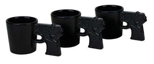 BigMouth Inc Gun Shots Pistol Shaped Shot Glass Set (3 Pack) by Outrageous Ventures, Inc