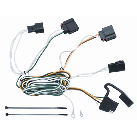vehicle to trailer wiring harness connector for 07-12 jeep grand cherokee -  walmart com