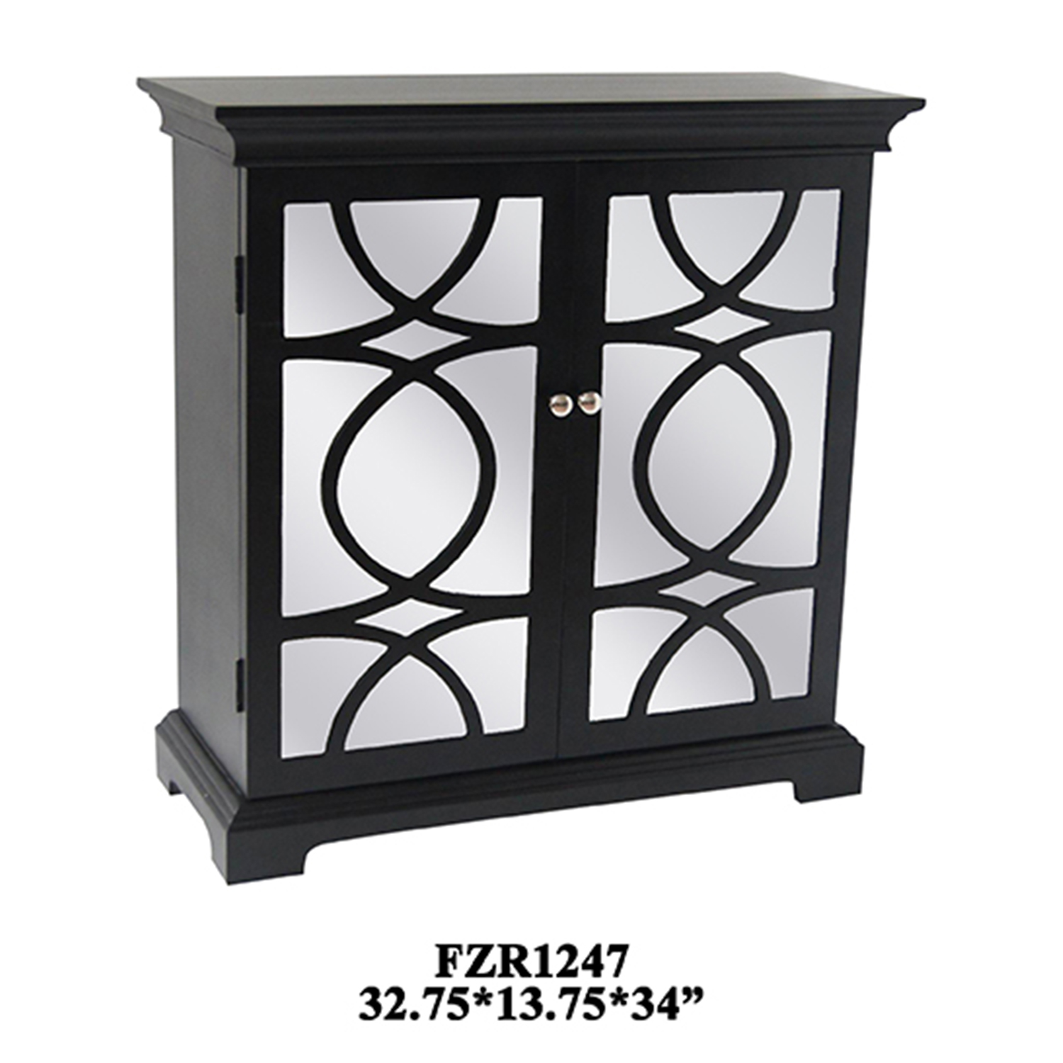 Crestview Collection Tuxedo 2 Door Cabinet