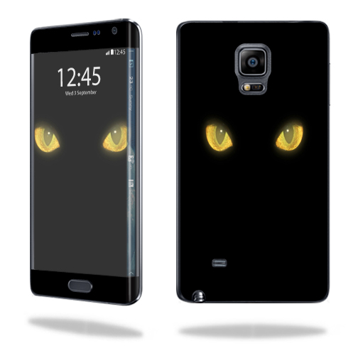 Mightyskins Protective Vinyl Skin Decal Cover for Samsung Galaxy Note Edge wrap sticker skins Cat Eyes