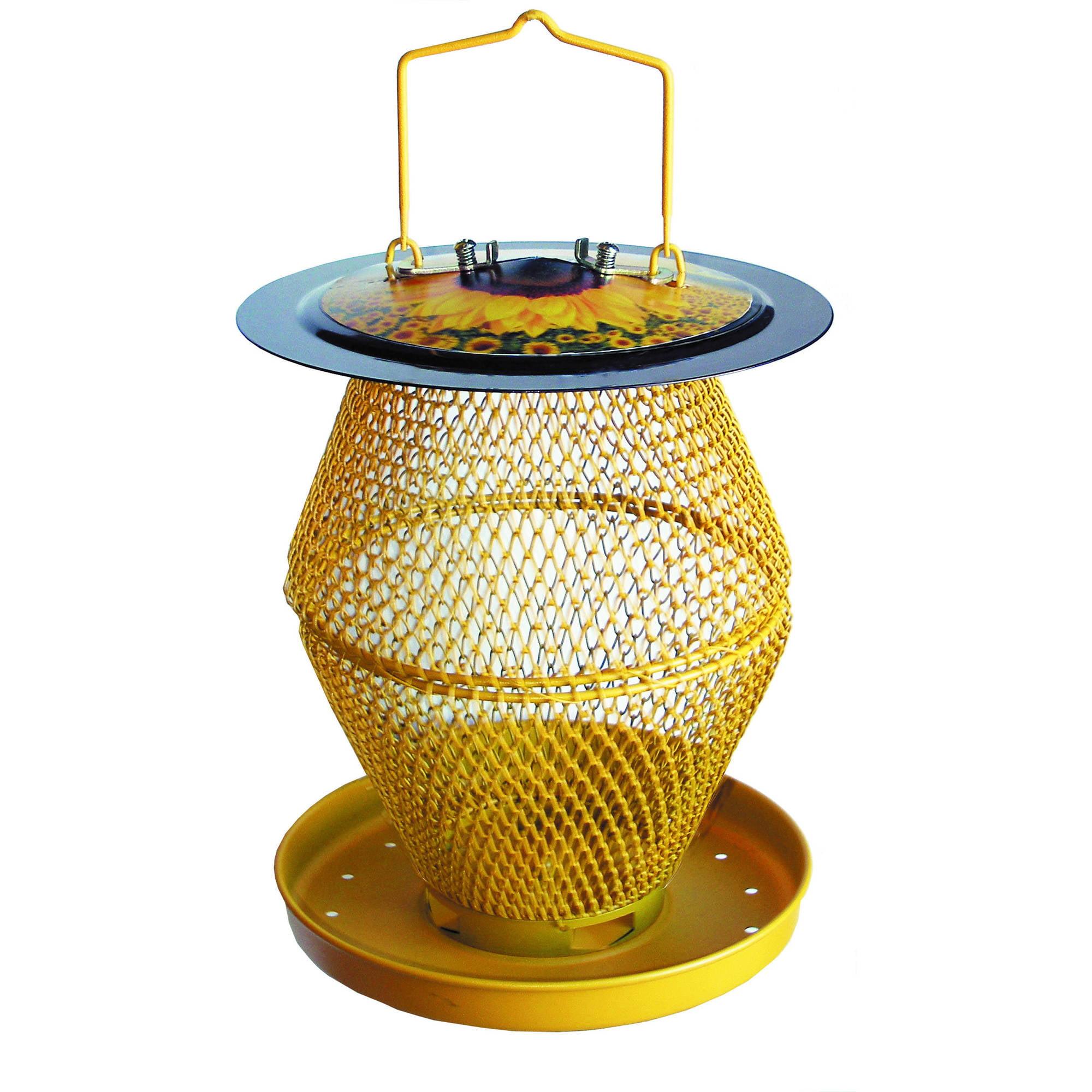NO NO Designer Sunflower 2-Tier Birdfeeder with Seed Tray by Perky-Pet