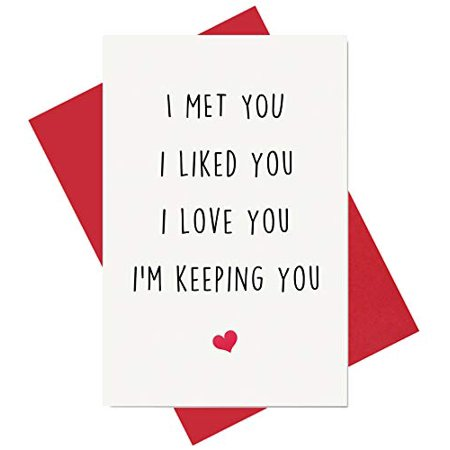 Funny I Love You Card Birthday Card Anniversary Card Card for Boyfriend Husband Fiance - image 1 of 1