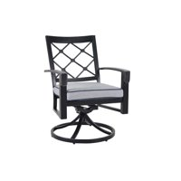 """36"""" Outdoor Dining Swivel Rocking Chair Pack of 2"""