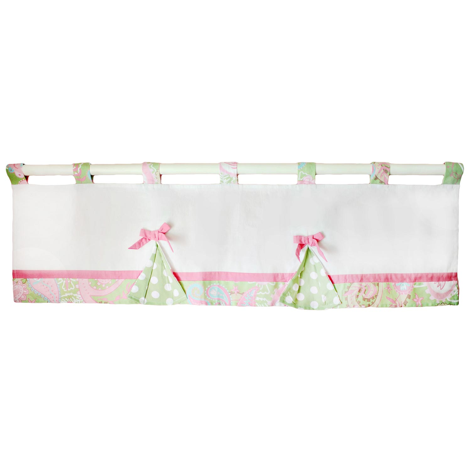 My Baby Sam Pixie Baby Curtain Valance in Pink by My Baby Sam