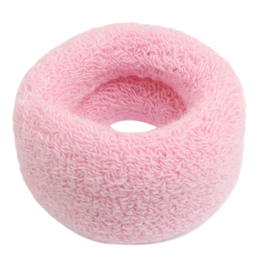 Elastic Rubber Hair Tie Band Ponytail Braid Holder Super-Wide Pink