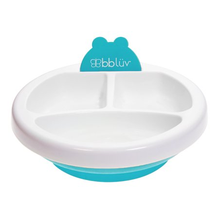 bblüv Platö ‒ Warm Feeding Plate for Baby - Aqua](Aqua Paper Plates)