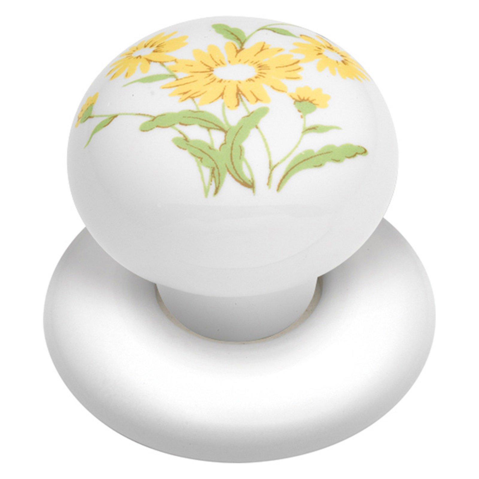 Hickory Hardware English Cozy Yellow Flower Cabinet Knob
