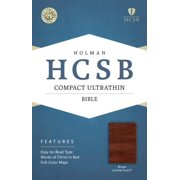 HCSB Compact Ultrathin Bible, Brown LeatherTouch
