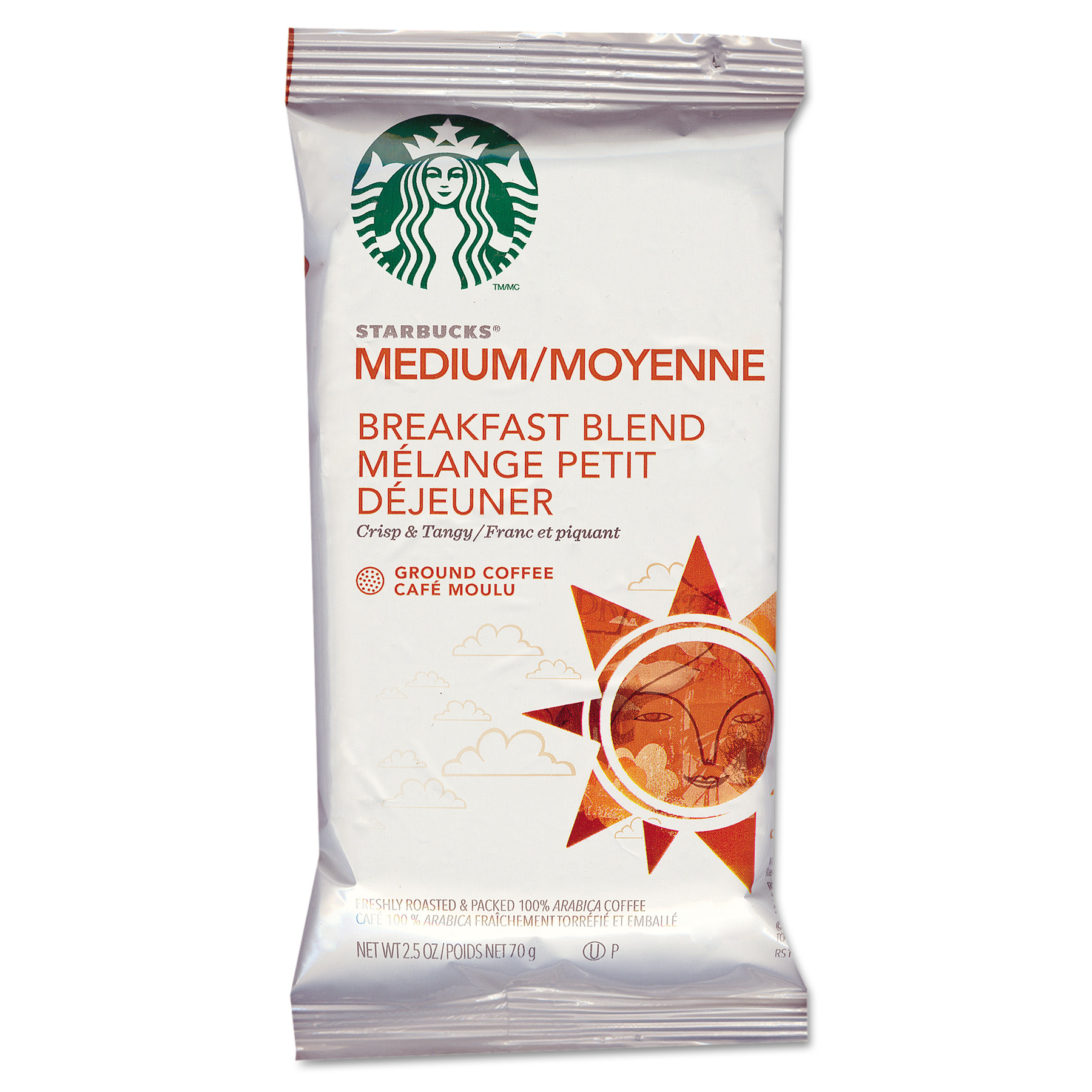 Starbucks Coffee, Breakfast Blend, 2 1/2 Packet, 18/Box
