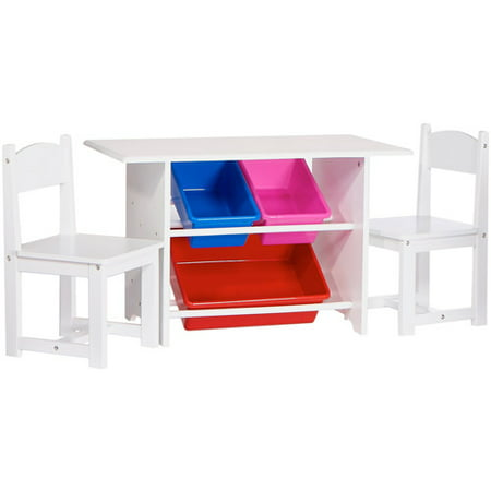 RiverRidge Kids Activity Table with Chairs and Bins
