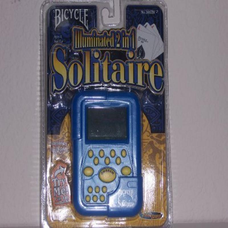 Bicycle Illuminated 2 in 1 Solitaire Electronic Game