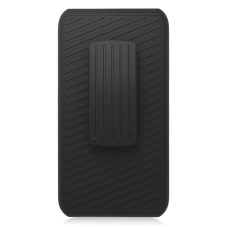 Insten Hard Hybrid Silicone Stand Case with Holster for iPhone 6 / 6s - Black - image 2 of 3