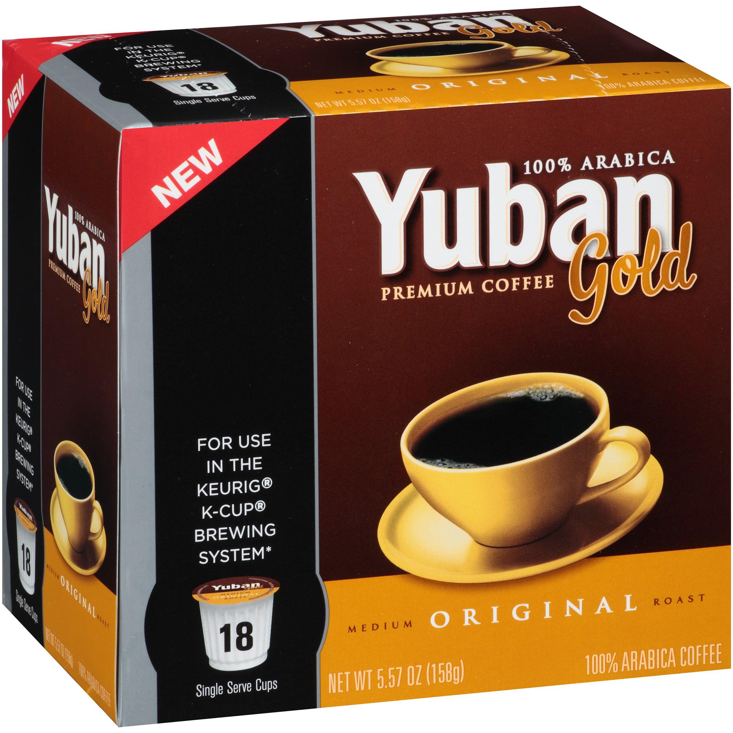 Yuban Gold Premium Medium Original Roast Coffee K-Cup Pods, 5.57 OZ (158g) 4300005724